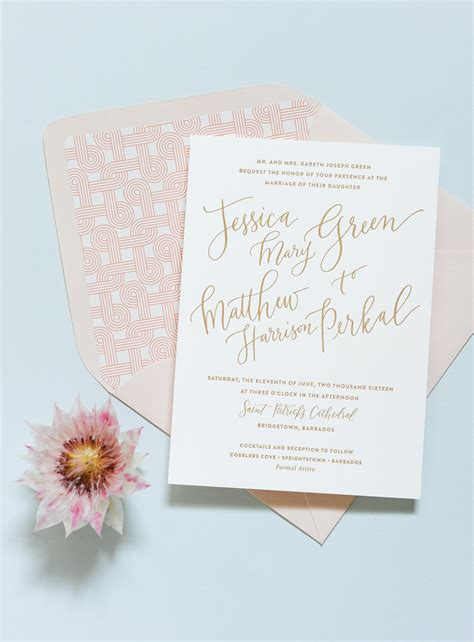 Destination Wedding Invitations by Modern Tropical Destination Wedding Invitations