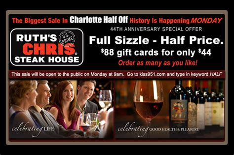 Ruth Chris Anniversary Gift Card - ruths chris gift certificate gift ftempo