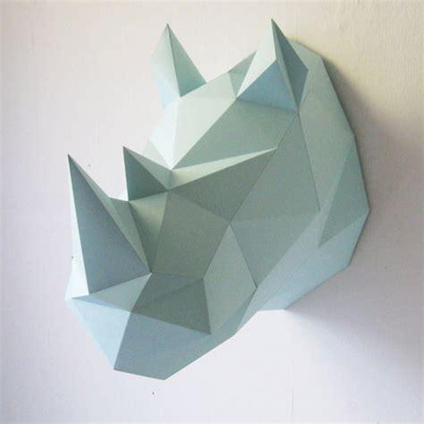 Rhinoceros Origami - troph 233 e de chasse en origami collectif assembli