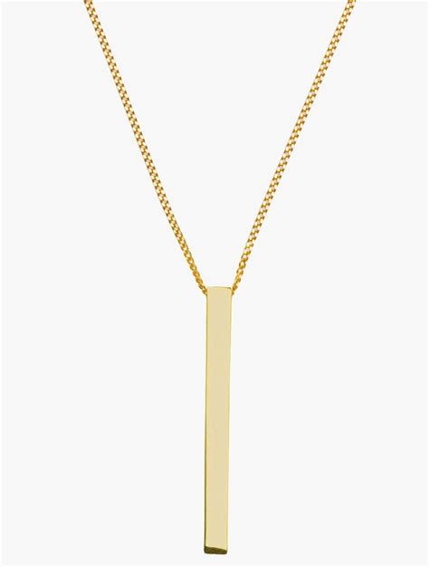 lyst dangle charm necklace in metallic