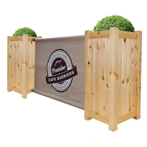 Barrier Planters by Cafe Barrier Premium Wooden Planter