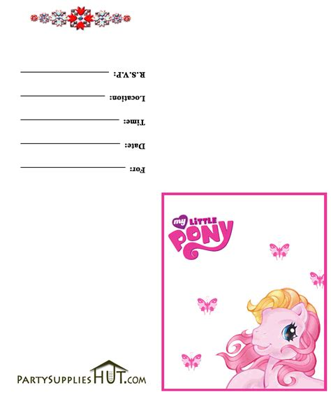 printable birthday invitations my little pony free printable birthday party invitations for girls