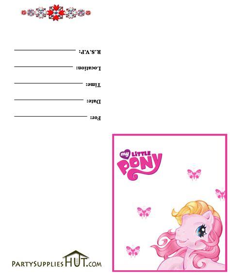 my pony invitation template my pony birthday invitations birthday