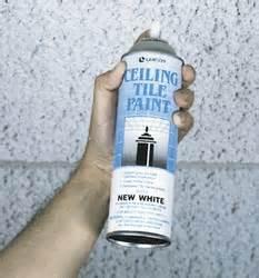 ceiling tile spray paint lawson ceiling tile paint new white 96214