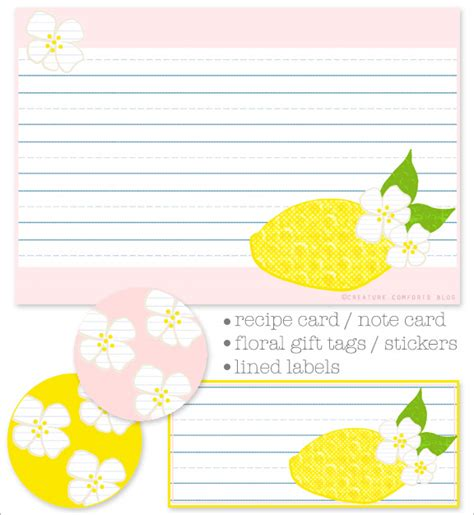 printable recipe note cards free printable recipe cards note cards and labels home