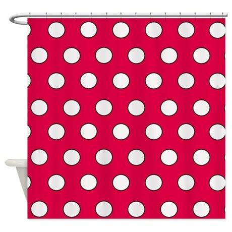 red polka dot shower curtain red polka dot shower curtain by poptopia1