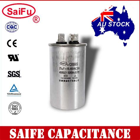 run capacitor small cbb65 450vac 25uf air conditioner appliance motor run capacitor oz seller ebay