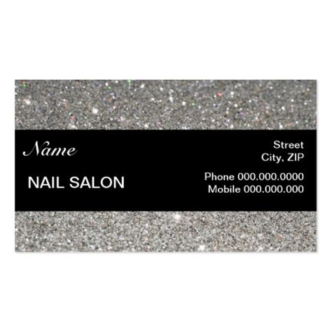 business cards nails template free sparkles glitter nail salon businesscard