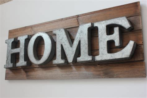 home metal letters galvanized zinc steel by designsbyembellish
