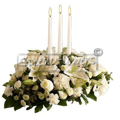 composizione natalizia con candele inviare regalare centrotavola natale natalizio spedire
