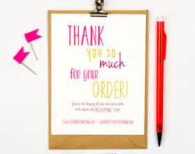 thank you for purchasing our product template thank you card printables for your creative by totallydesign