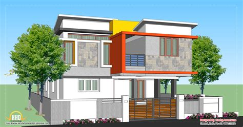modern style home plans modern home design 1809 sq ft kerala home design and floor plans