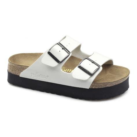 birkenstock platform sandals papillio birkenstock arizona womens platform sandals white