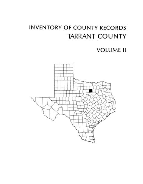 Tarrant County District Court Records Search Inventory Of County Records Tarrant County Courthouse Fort Worth Volume 2