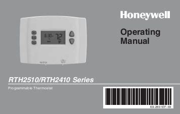 T7350 Commercial Programmable Thermostat Honeywell