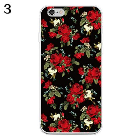 Flower Iphone 3d 1 3d color flower print phone cover for iphone 6 6s 7 samsung galaxy s7 witty ebay