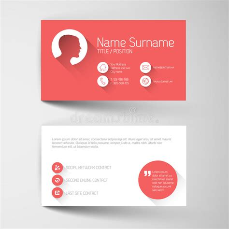 free flat card templates modern business card template with flat user interface