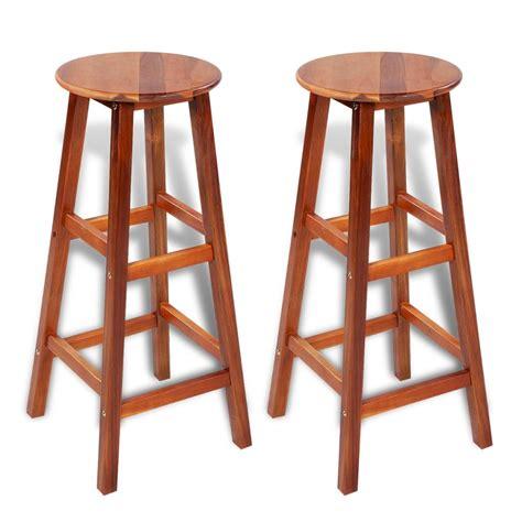 Bar And Stool Sets Vidaxl Co Uk 2 Pcs Wooden Bar Stool Set