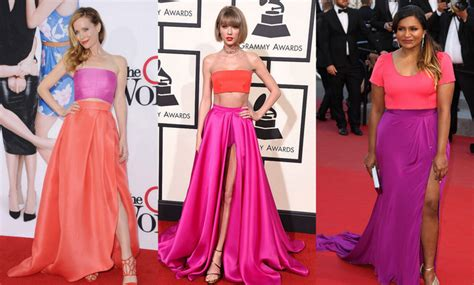 taylor swift pink dress 1989 pink and orange gowns stars who have worn taylor swift s