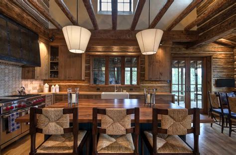 mountain home interiors mountain home surrounded by forest offers rustic living in
