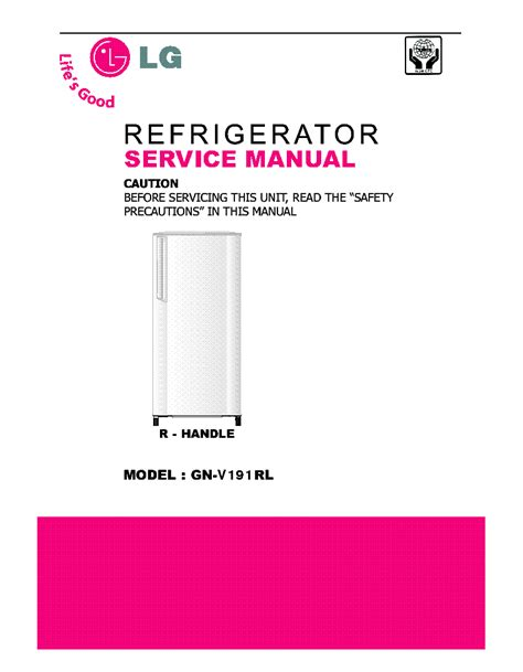 Kulkas Lg Gn V 191 Rl lg gn v191rl service manual schematics eeprom repair info for electronics experts