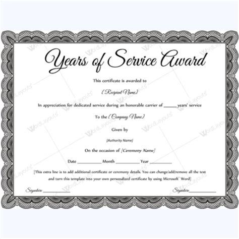 years of service award certificates 20 count desktopsupplies com