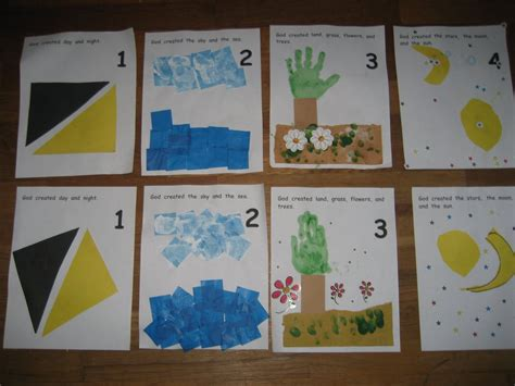 themes in creation stories the preschool experiment creation book pages days 1 3