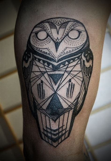 tattoo owl geometric 25 awesome geometric tattoo art images gallery