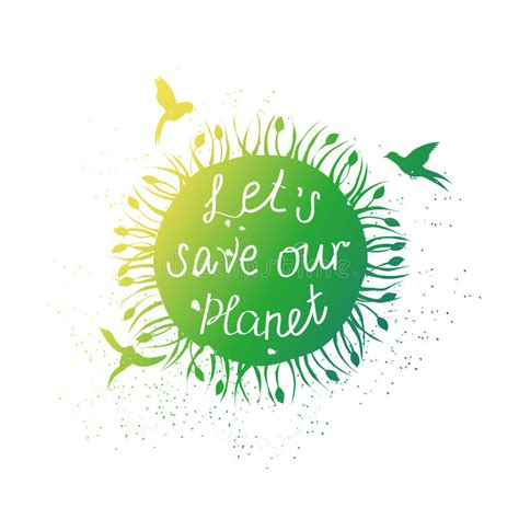Save Our Planet save our planet stock vector illustration of lettering