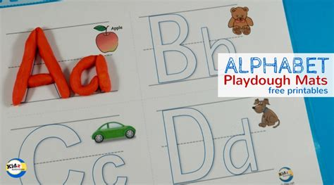 Letter Playdough Mats by Free Printable Alphabet Playdough Mats Kidz Activities