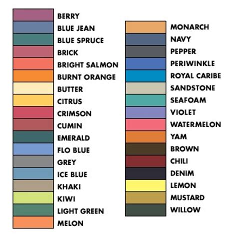 comfort colors color swatch comfort colors swatch delta glamma pinterest colors