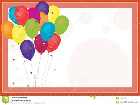 imagenes de cumpleaños con globos globos del cumplea 241 os ilustraci 243 n del vector ilustraci 243 n