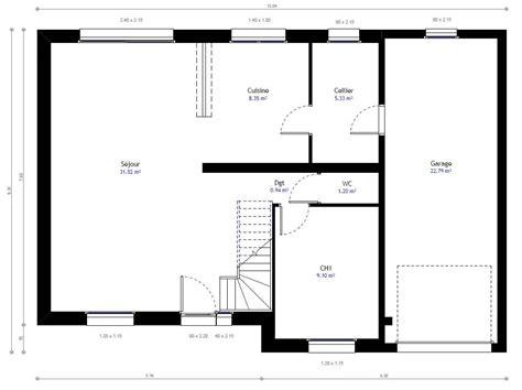 Plan Pavillon 100m2 by Maison Individuelle Lesmaisons 23 Lesmaisons