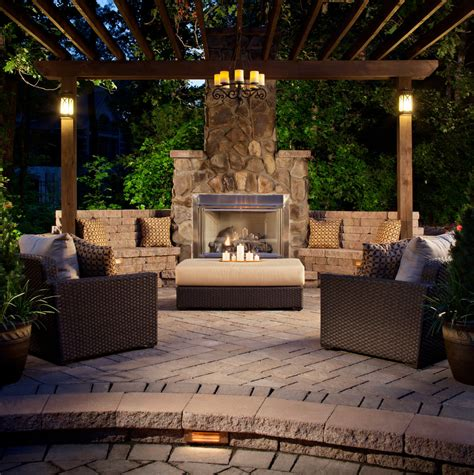 fireplace backyard 30 patio designs decorating ideas design trends