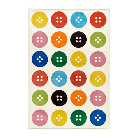Button Rug by T 197 Strup Rug Low Pile