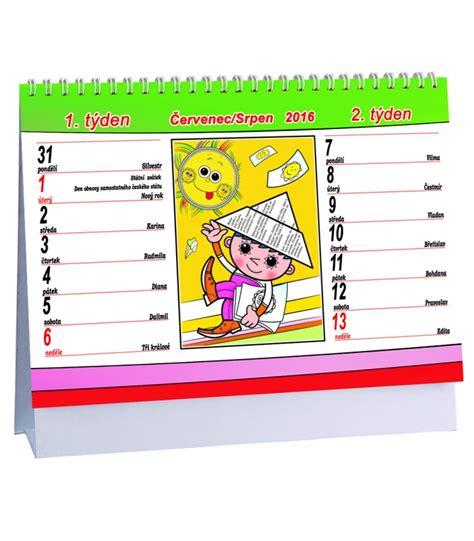 Table Calendar 2016 Table Calendar Večern 237 ček 2016