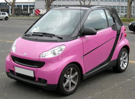 smart car pink top cars zone smart fortwo passion cabrio car wallpapers