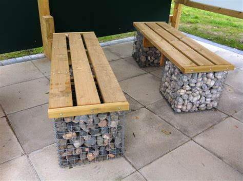 gabion bench gabion seating seating and planting playscheme york uk
