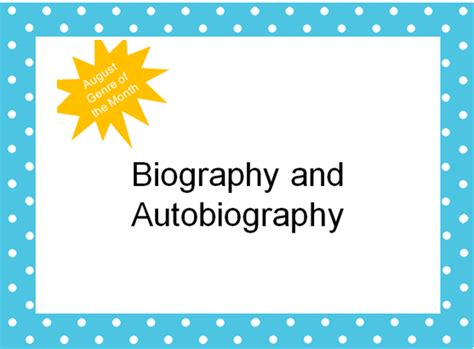 biography and autobiography powerpoint the book bug freebies