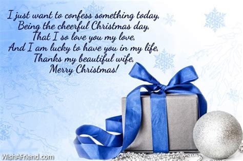 confess  christmas message  wife