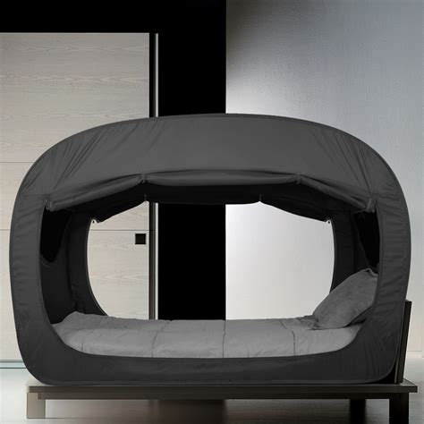 the bed tent privacy pop this bed tent is a dark comforting fort for