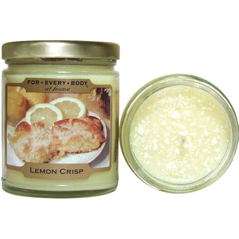 lemon crisp home baked mini 1oz candle in jar for