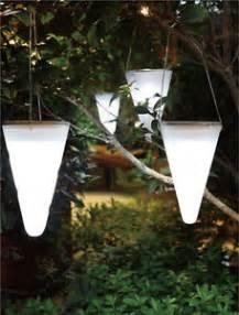 solar outdoor hanging lights set of 3 solar outdoor garden hanging tree cornet cone led