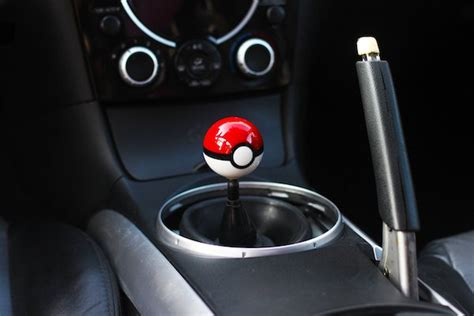 Pokeball Gear Shift Knob by Geeky Car Accessories Your Top 8 Choices 1carlifestyle