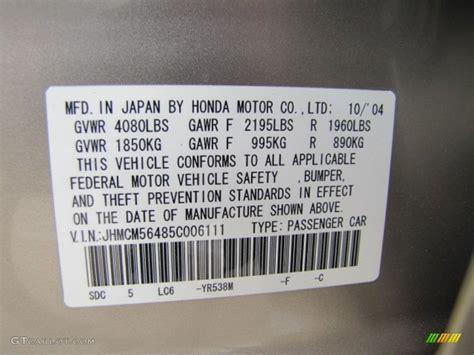 2005 honda accord lx sedan color code photos gtcarlot