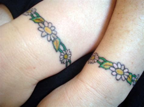wrist tattoos flower chain 47 attractive band tattoos for your writs