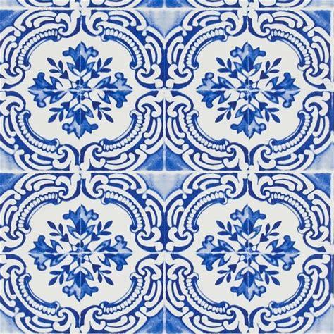 Where Do Interior Designers Shop azulejos cobalt wallpaper christian lacroix