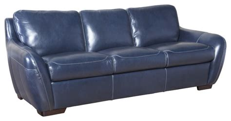 simon li modern leather sofa cobalt modern sofas