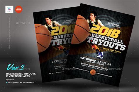 Basketball Tryouts Flyer Templates By Kinzi21 Graphicriver Basketball Tryout Flyer Template