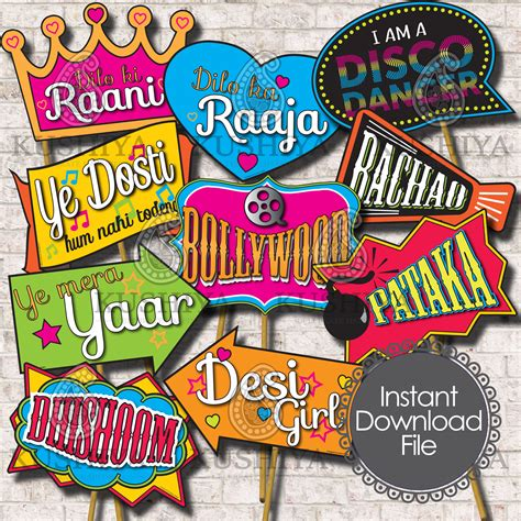 Home Decor Fabric Australia bollywood themed photo booth props set of 10 indian